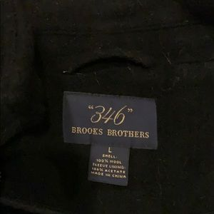 Brooks brothers black top coat with toggles L
